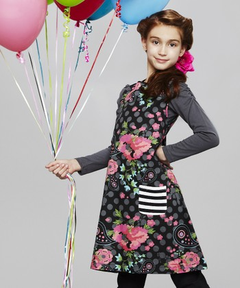 Black Floral Jumper - Toddler & Girls