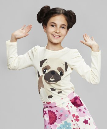 Ivory Pug Tee - Toddler & Girls