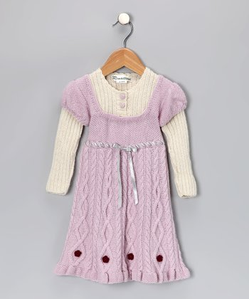 Pink Alpaca Layered Fiona Dress - Toddler & Girls