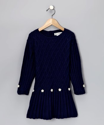 Navy Alpaca Manu Dress - Toddler & Girls