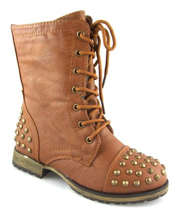 Tan Studded Megan Boot