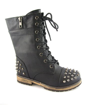 Black Studded Alisia Boot