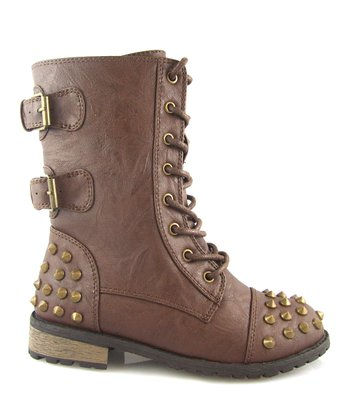 Brown Studded Mango Boot