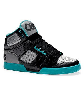 Black & Aqua NYC 83 Hi-Top Sneaker