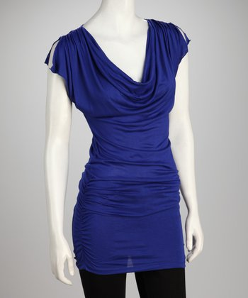 Royal Blue Drape Tunic