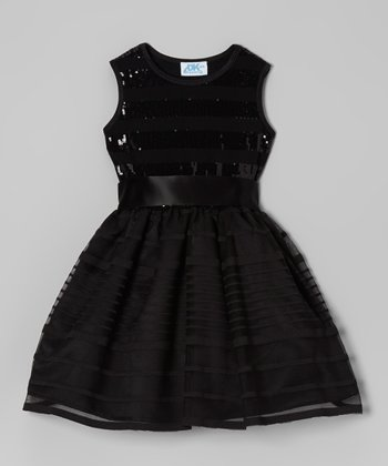 Black Sequin Dress - Infant, Toddler & Girls