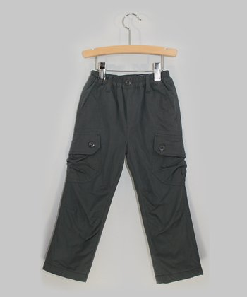 Dark Gray Cargo Pants - Toddler & Boys