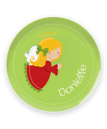 Yellow-Haired Angel Personalized Plate
