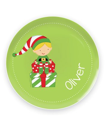 Yellow-Haired Elf Personalized Plate