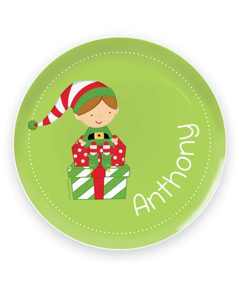 Brown-Haired Elf Personalized Plate