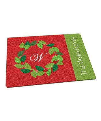 Mod Wreath Personalized Cutting Board