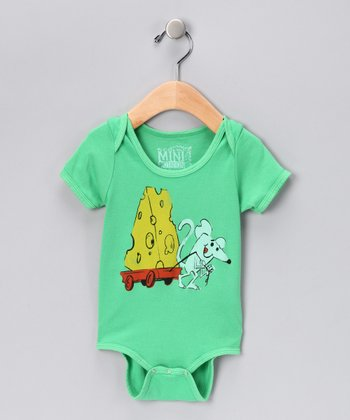Grass Green Big Cheese Organic Bodysuit - Infant