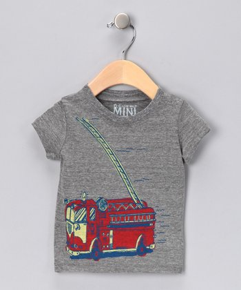 Gray Fire Truck Tee - Infant