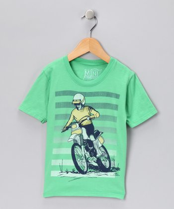 Grass Green Motocross Organic Tee - Toddler