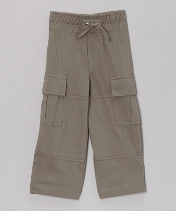 Khaki Organic Cargo Pants - Infant, Toddler & Kids
