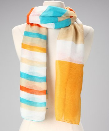 Yellow & Orange Stripe Scarf