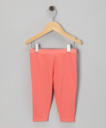 Coral Capri Jeggings - Toddler & Girls