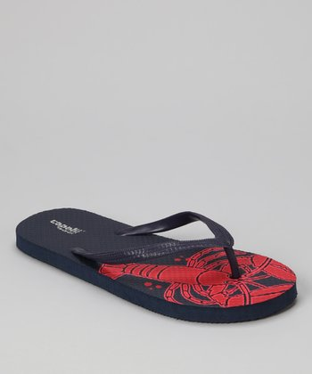 Navy Combo Lobster Jelly Flip-Flop - Women