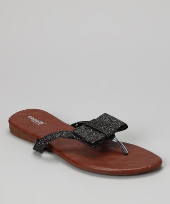 Black Bow Flip-Flop - Women