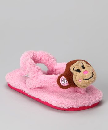 Pink Pretty Monkey Sandal - Kids