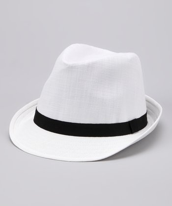 White & Black Fedora