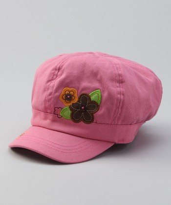 Pink Flower Patch Baseball Cap