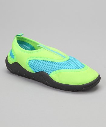 Green & Turquoise Water Shoe - Kids