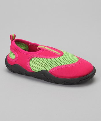 Green & Pink Water Shoe - Girls
