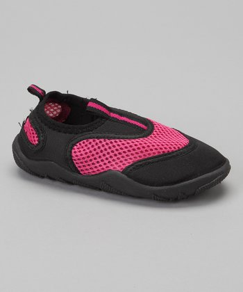 Pink & Black Water Shoe - Girls