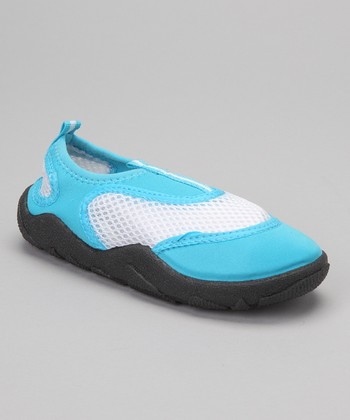 Turquoise & White Water Shoe - Kids