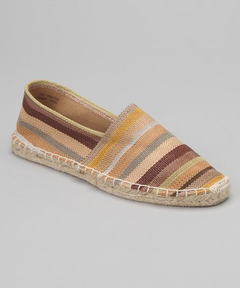 Natural & Brown Stripe Espadrille