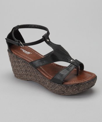 Black Espadrille Wedge - Women