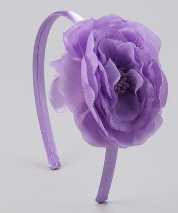 Lilac Flower Satin Headband