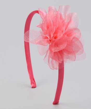 Peach Iridescent Flower Headband
