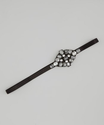 Black Gemstone Headband