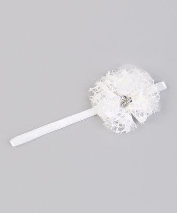 Ivory Mesh Flower Headband