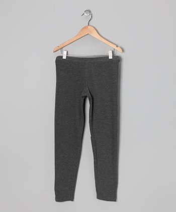 Charcoal Heather Leggings - Girls