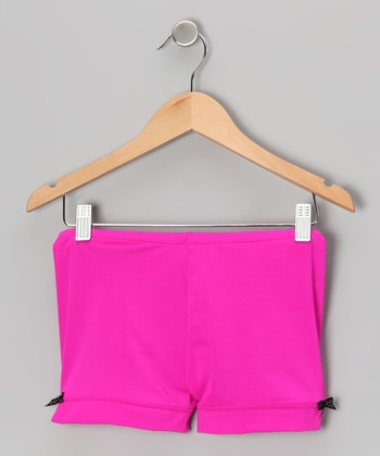 Fuchsia Bow Shorts - Toddler