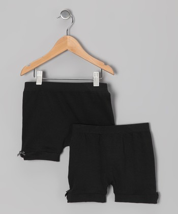 Black Bow Shorts Set - Girls
