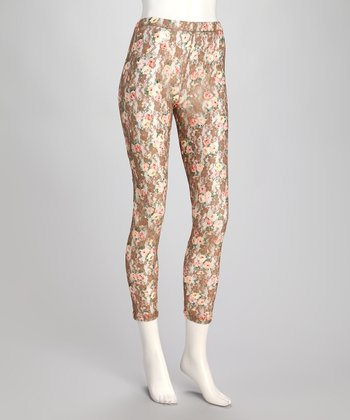Natural Bed of Roses Lace Leggings