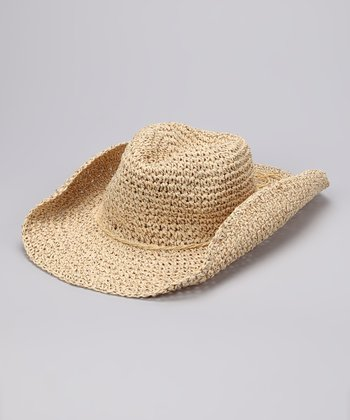 Natural Metallic Weave Cowboy Hat