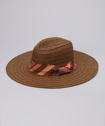 Brown Stripe Band Sunhat