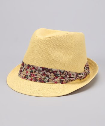 Yellow Floral Band Fedora
