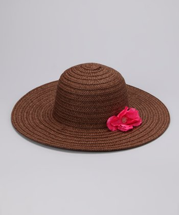 Brown Flower Sunhat