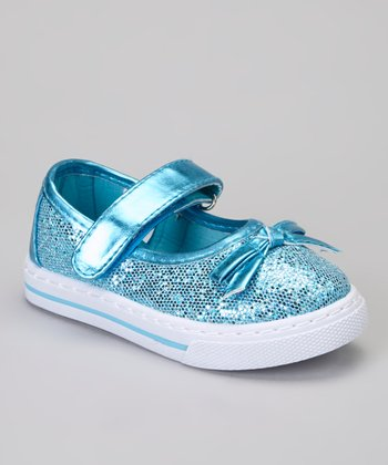 Turquoise Glitter Kelli Sneaker