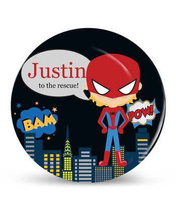 Blonde Spidey Superhero Personalized Plate