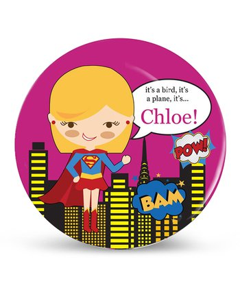 Blonde Super Sweetie Personalized Plate