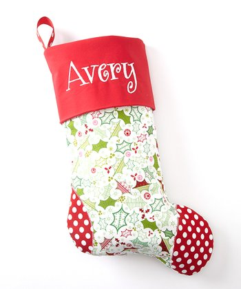 Red Polka Dot Personalized Stocking