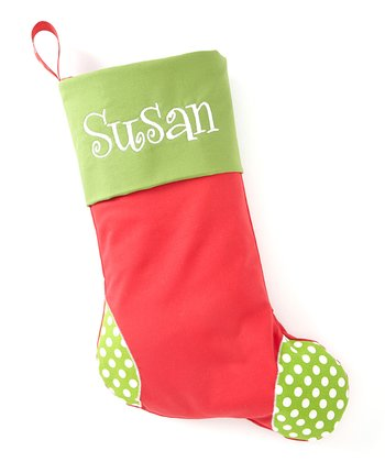 Green & Red Personalized Stocking