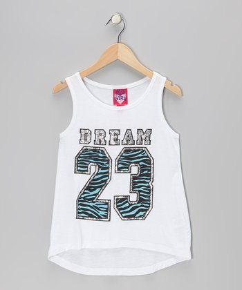 Optic White '23' Hi-Low Jersey Tank